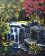 Waterfall in a Garden